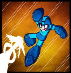 Color Warm-up Collab - Blayaden's Mega Man by JoeHoganArt