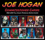 Commish - Even More Sketch Cards by JoeHoganArt