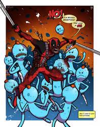 Mr Deadpool - Collab w Mike Vasquez by JoeHoganArt