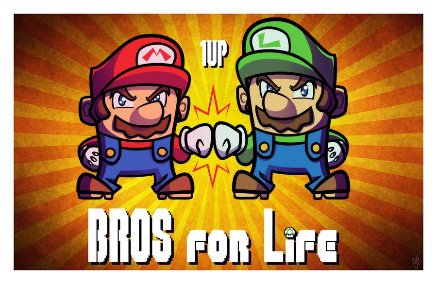 nycc_print___bros_for_life___super_mario_bros_by_joehoganart d97brz3 nycc print bros for life super mario bros by joehoganart on
