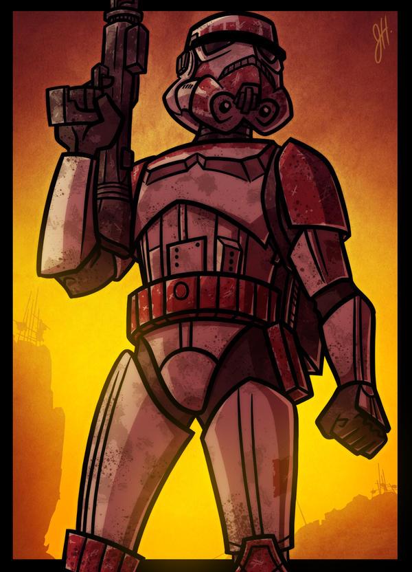 Battlefront Imperial Shock Trooper by JoeHoganArt