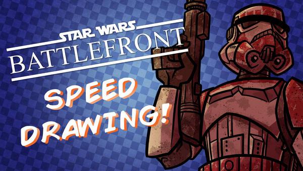 Speed Drawing- Imperial Shock Trooper by JoeHoganArt