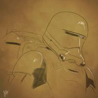 Flametrooper Sketch by JoeHoganArt