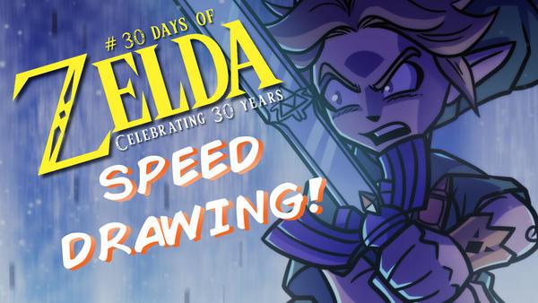 Speed Drawing - 30 Days of Zelda - Day 8 by JoeHoganArt