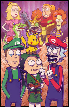 COLLAB PRINT - Rick and Morty Meet Smash Bros