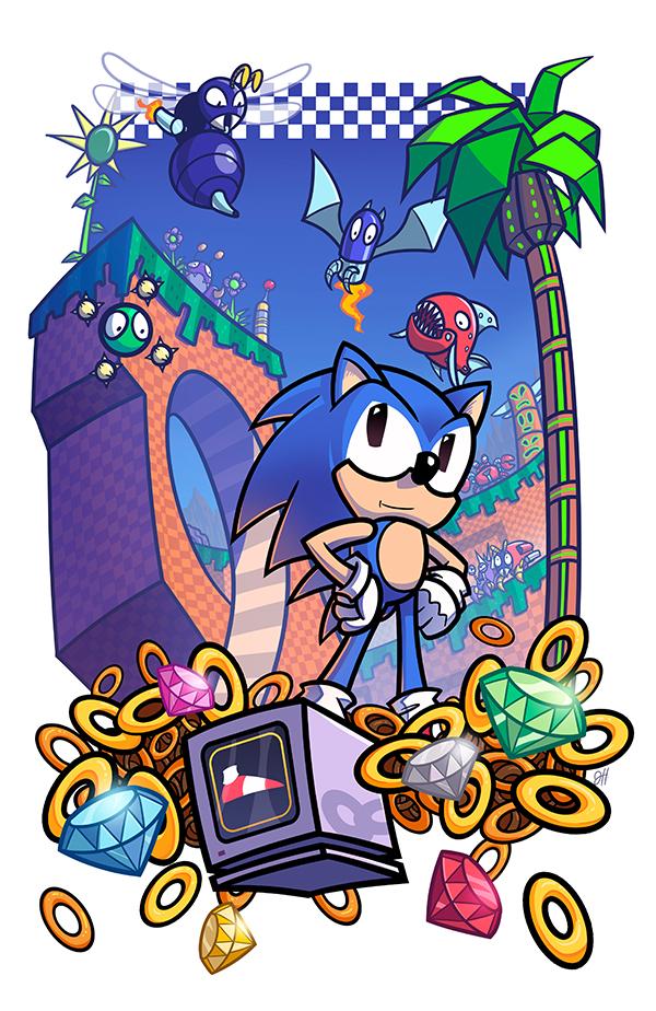 Epic Game Print - Sonic the Hedgehog by JoeHoganArt