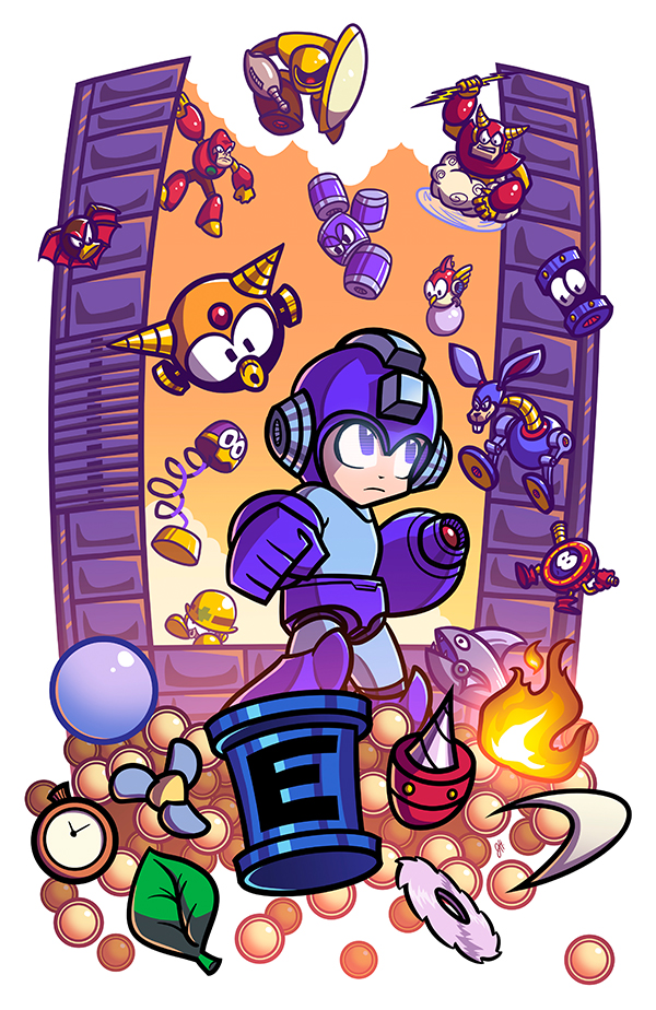 Epic Game Print - Mega Man 2 by JoeHoganArt