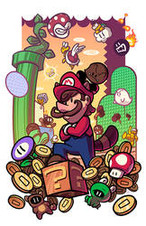Epic Game Print - Super Mario Bros 3 by JoeHoganArt