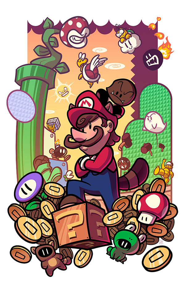 Epic Game Print - Super Mario Bros 3 by JoeHoganArt