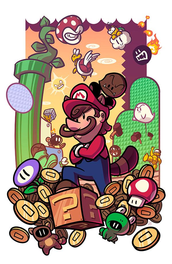 Epic Game Print Super Mario Bros 3 by JoeHoganArt on DeviantArt