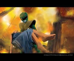Courage Under Fire by JoeHoganArt