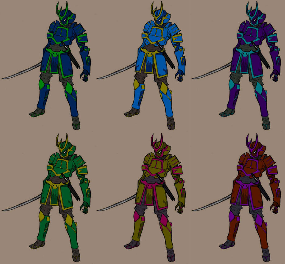 Samurai Color Samples by JoeHoganArt