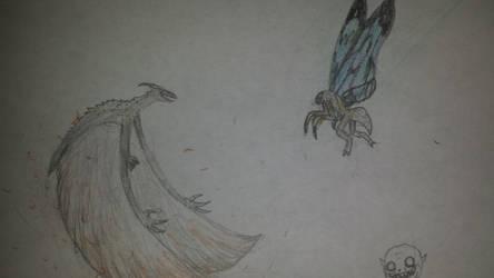 Rodan vs Mothra by Probroart95