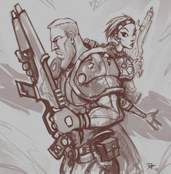 SciFi Warriors by jpedro