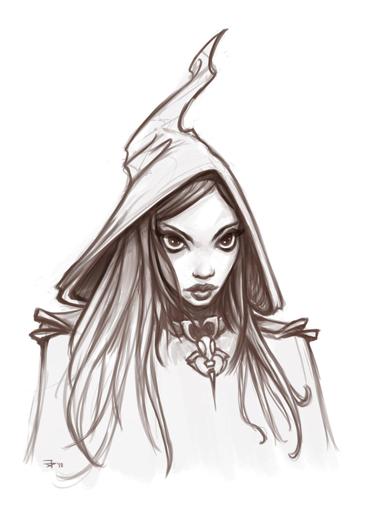 Witch Sketch by jpedro