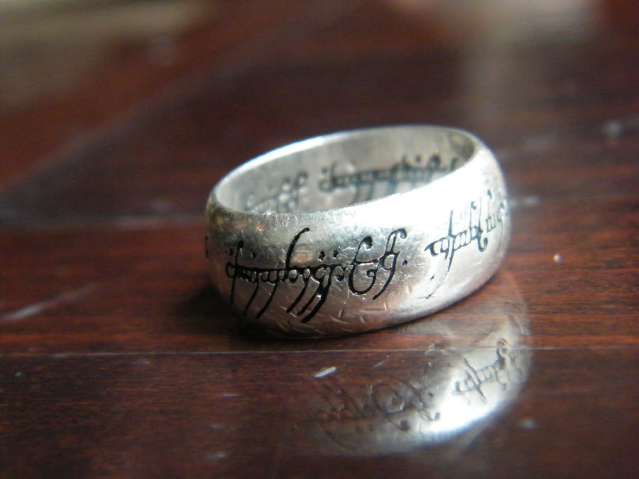 the one ring in 925er silver by lord2007 on deviantart