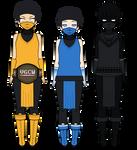 Scorpion, Sub-Zero and Noob Saibot