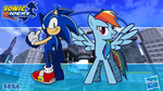 Sonic Riders Wallpaper #1 - Sonic and Rainbow Dash by lukaafx
