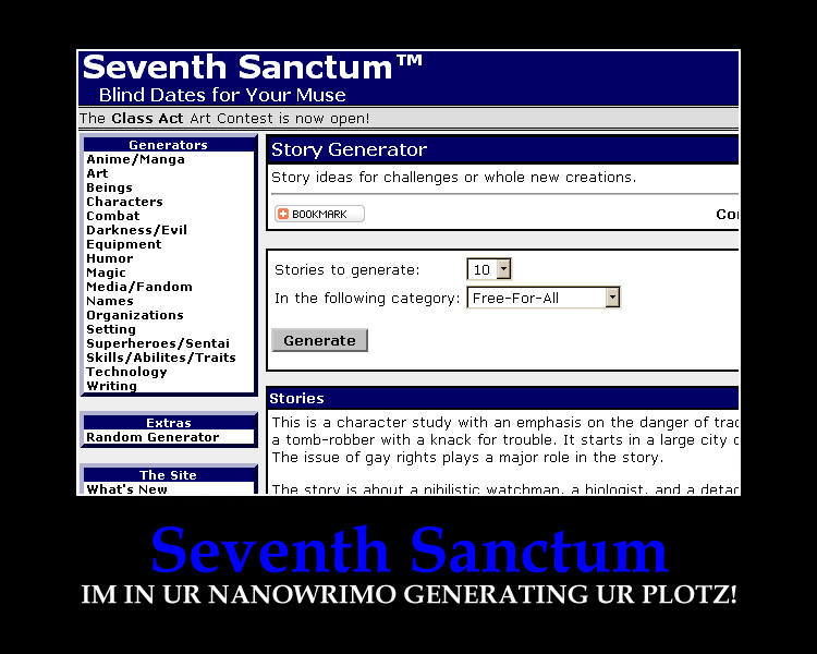 Seventh Sanctum Motivator by DragonScholar