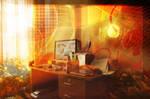 orange workstation