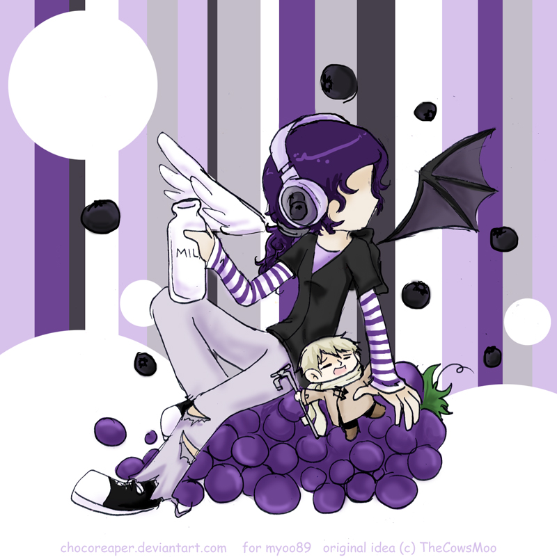 Blackberry Grape Milk