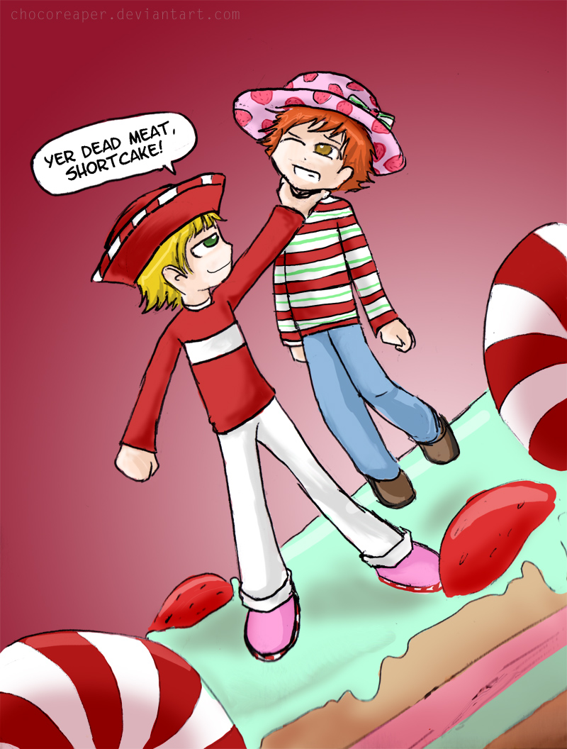 strawberry shortcake cartoon.wallpaper