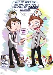 Owl City vs Chicken Village? by Chocoreaper