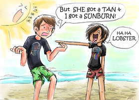 Tan vs Sunburn by Chocoreaper