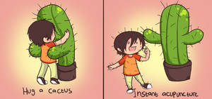 Hugging a Cactus by Chocoreaper