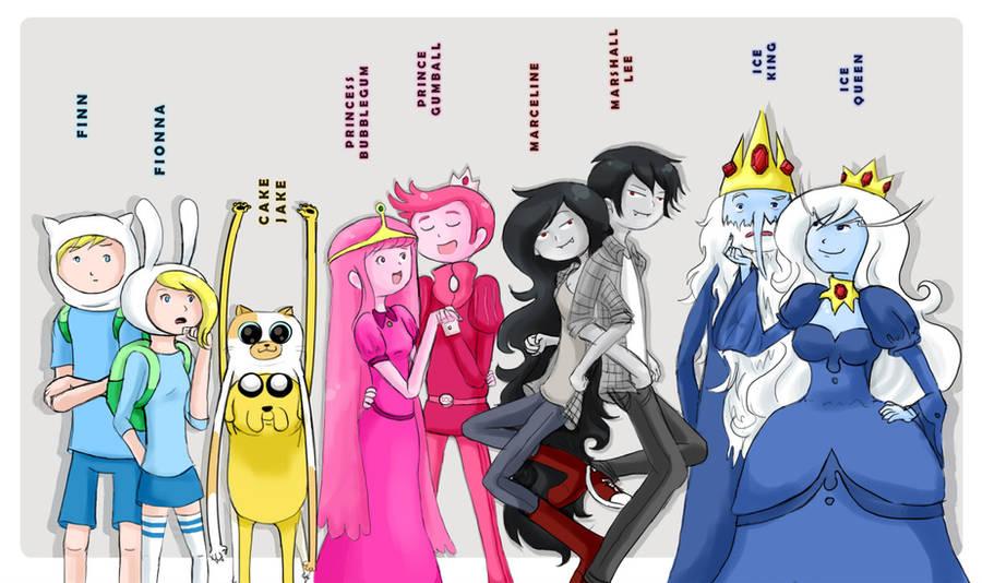 Adventure Time + genderbent by Chocoreaper