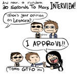 random 30SecondsToMars interview