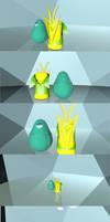 3D Seafruit n Grasslightning bottles