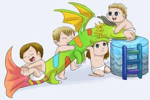 Chibi Baby Imagine Dragons by Chocoreaper