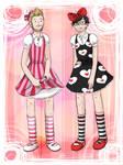 Rhett n Link in kiddy dresses
