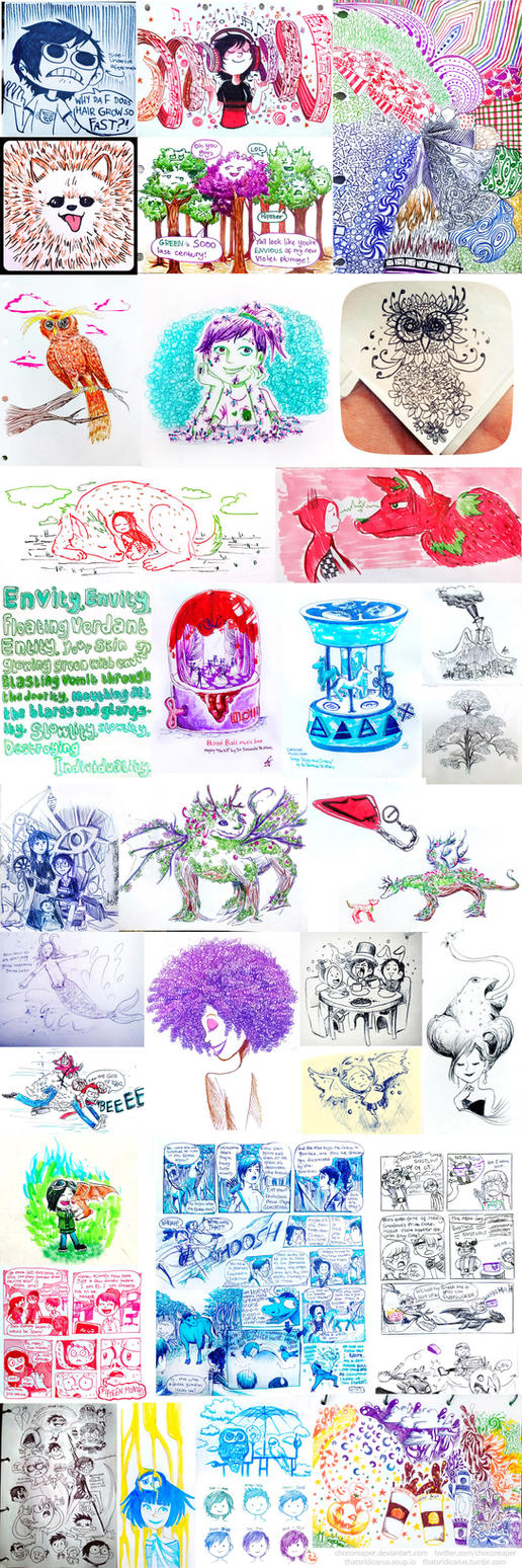Inktober 2014 Compilation by Chocoreaper