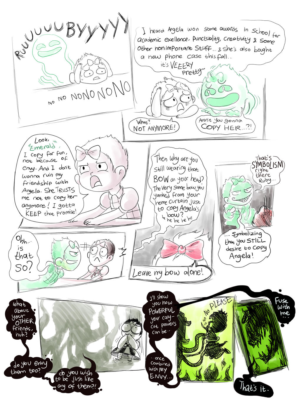 Ruby the Copycat - Emerald the Envy