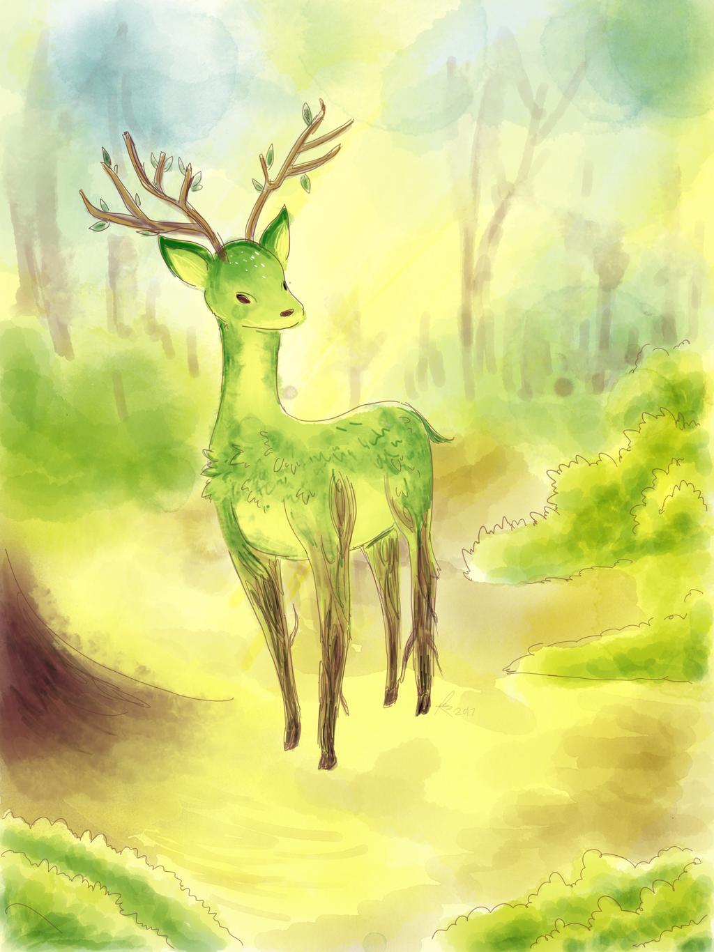 Leaf deer by Chocoreaper