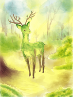 Leaf deer by Chocoreaper