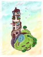 a rather uhh... phallic dwelling by Chocoreaper