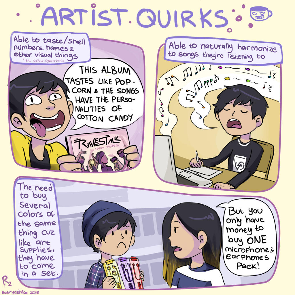 Artist Quirks by Chocoreaper