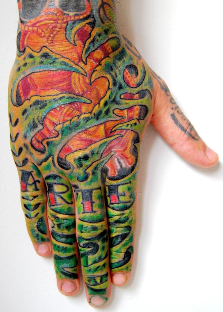 Organic Hand Tattoo by micaeltattoo