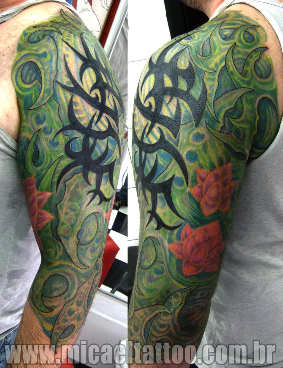 Tatuagem Green Organic Tattoo by micaeltattoo
