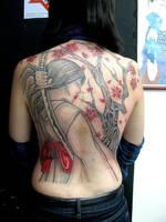 Tatuagem Samurai Girl Tattoo by micaeltattoo