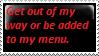 my menu by omg-Ukilled-kenny