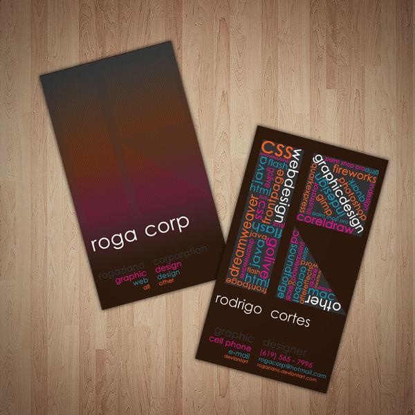 Roga Corp Cards