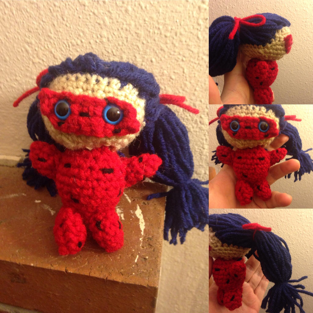 Ladybug Amigurumi - PDF Pattern | Patron, Poupée amigurumi, Crochet | 1024x1024