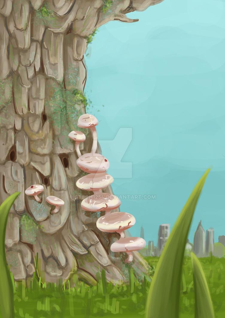 Mushroom Tree by Steph1254