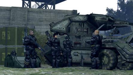 ODST Squad preparation by Sigi09