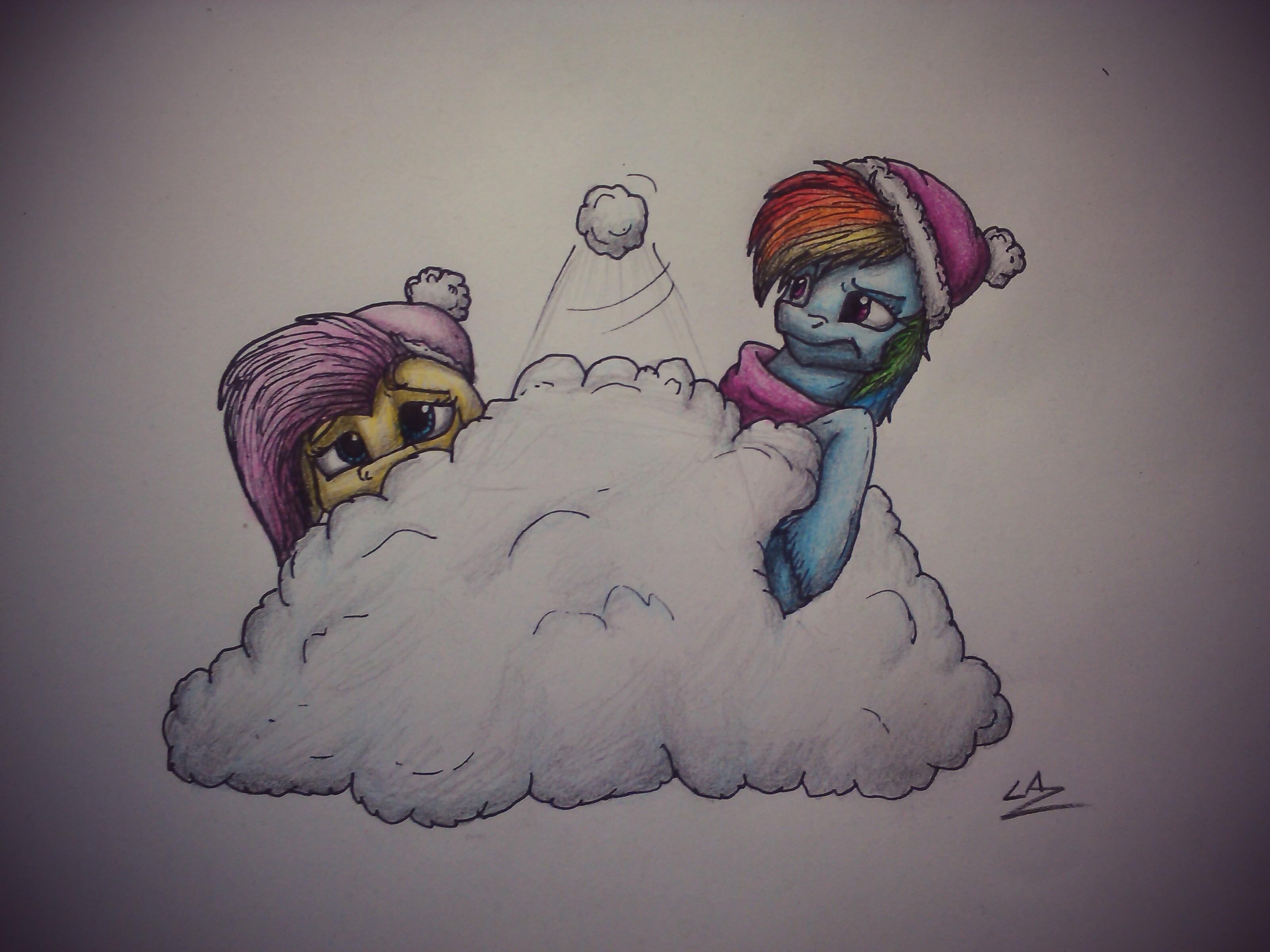 Advent Calendar: 20- Fluttershy and Rainbow Dash