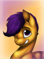 Scootaloos Portrait (original) by LupiArts